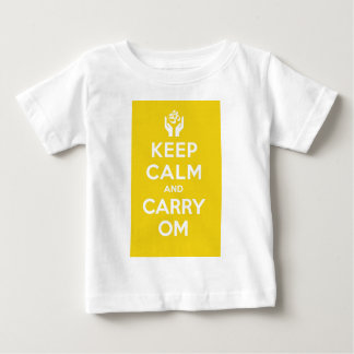 Yellow Keep Calm And Carry Om Baby T-Shirt
