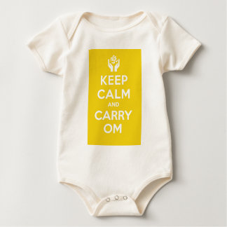 Yellow Keep Calm And Carry Om Bodysuit