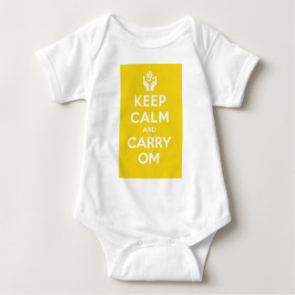 Yellow Keep Calm And Carry Om T-shirt