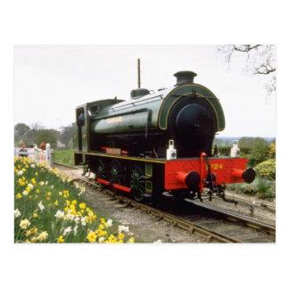 yellow Kent & East Sussex Railway, Tenterden, Kent Postcard