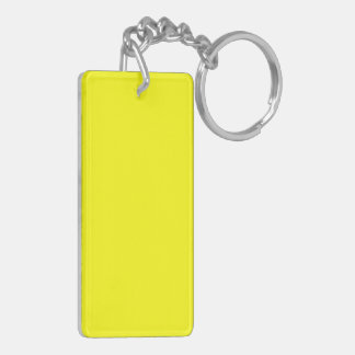 Yellow Double-Sided Rectangular Acrylic Keychain
