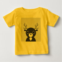 Yellow kids t-shirt with Reindeer