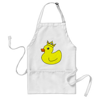 Yellow King Rubber Duck Adult Apron