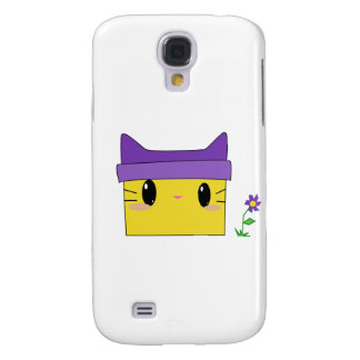 Yellow Kitty Galaxy S4 Covers