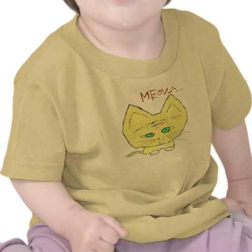 Yellow Kitty Kat says Meow... Tshirt