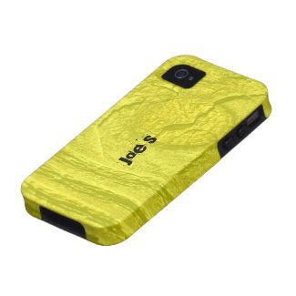 Yellow Knotty Wood iPhone 4/4S Cases