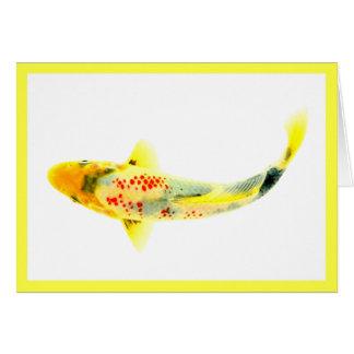 Yellow Koi Card