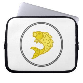 Yellow Koi Fish - Fish Prawn Crab Collection Laptop Sleeve