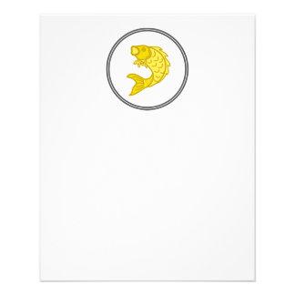 Yellow Koi Fish - Fish Prawn Crab Flyer
