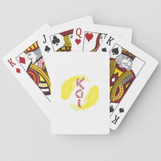"""Yellow Koi Fish Pair w/ Red """"KOI"""" -Custom BG Color Card Deck"""