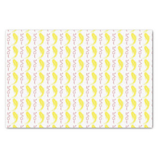 """Yellow Koi Fish w/ Red """"KOI"""" Tissue Paper"""