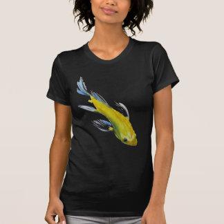 Yellow koi Japanese carp watercolour art fish T-Shirt
