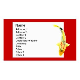 Yellow Koi Traditional Business Card
