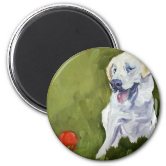 Yellow Lab 2 Inch Round Magnet