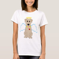 Yellow Lab Angel Dog T-Shirt