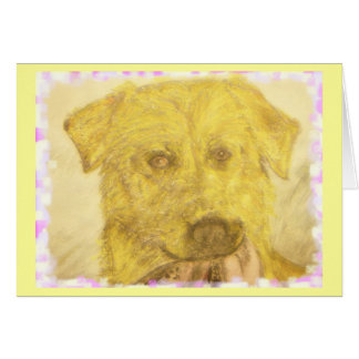 yellow lab art card