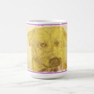 yellow lab art coffee mug