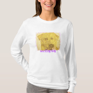 yellow lab art (working dog) T-Shirt