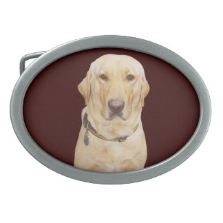 Yellow Lab Belt Buckle