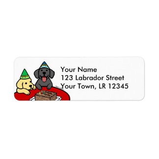 Yellow Lab & Black Lab Birthday Label