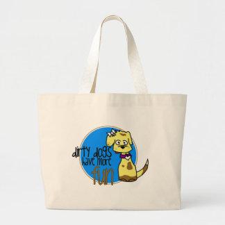 Yellow Lab -Blue Logo Bags