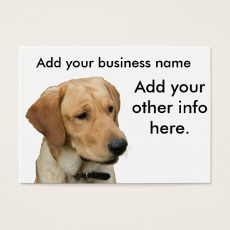 Yellow Lab Business Card