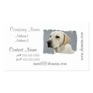 Yellow Lab Business Cards