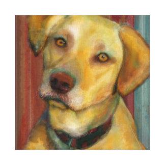 Yellow Lab Canvas Wrapped Modern Dog Art