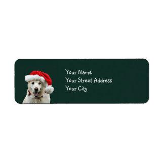 Yellow Lab Christmas Return Address Labels