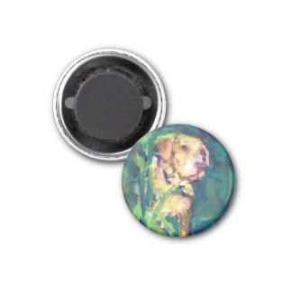 Yellow Lab Creek Painting magnet