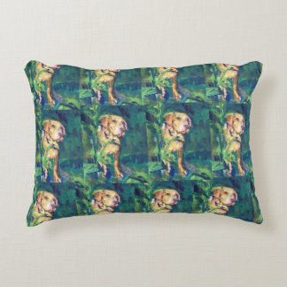 Yellow Lab Creek Painting pillow
