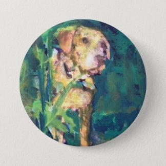 Yellow Lab Creek Painting Pin by Willowcatdesigns