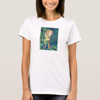 Yellow Lab Creek Painting T-Shirt for Her