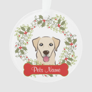 Yellow Lab Customizable Ornament