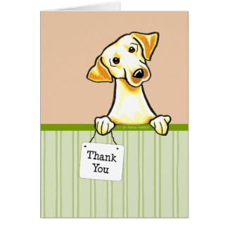 Yellow Lab Cute Summer Thank You Card