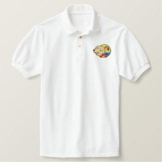 Yellow Lab Embroidered Polo Shirt