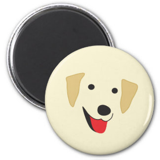Yellow Lab Face 2 Inch Round Magnet