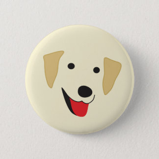 Yellow Lab Face Button