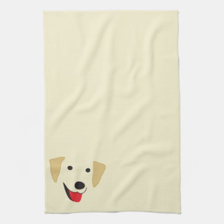 Yellow Lab Face Hand Towel