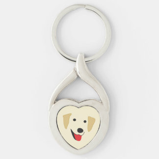 Yellow Lab Face Keychain