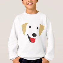 Yellow Lab Face Sweatshirt