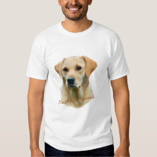 Yellow Lab Fathful Friend for Apparel T-shirt