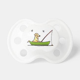 Yellow Lab Fishing Baby Pacifier