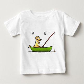 Yellow Lab Fishing Baby T-Shirt