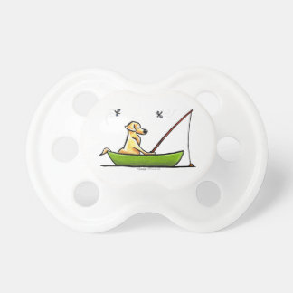 Yellow Lab Fishing BooginHead Pacifier
