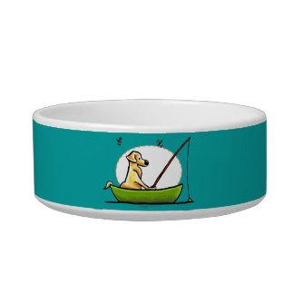 Yellow Lab Fishing Bowl