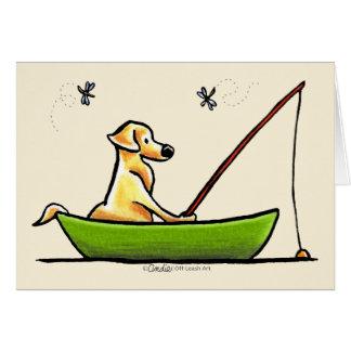 Yellow Lab Fishing Card