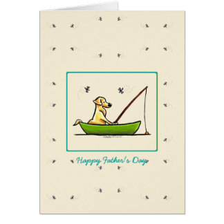 Yellow Lab Fishing Cards for Dads n Fathers