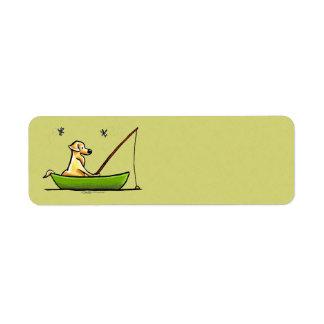 Yellow Lab Fishing Label