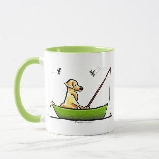Yellow Lab Fishing Mug